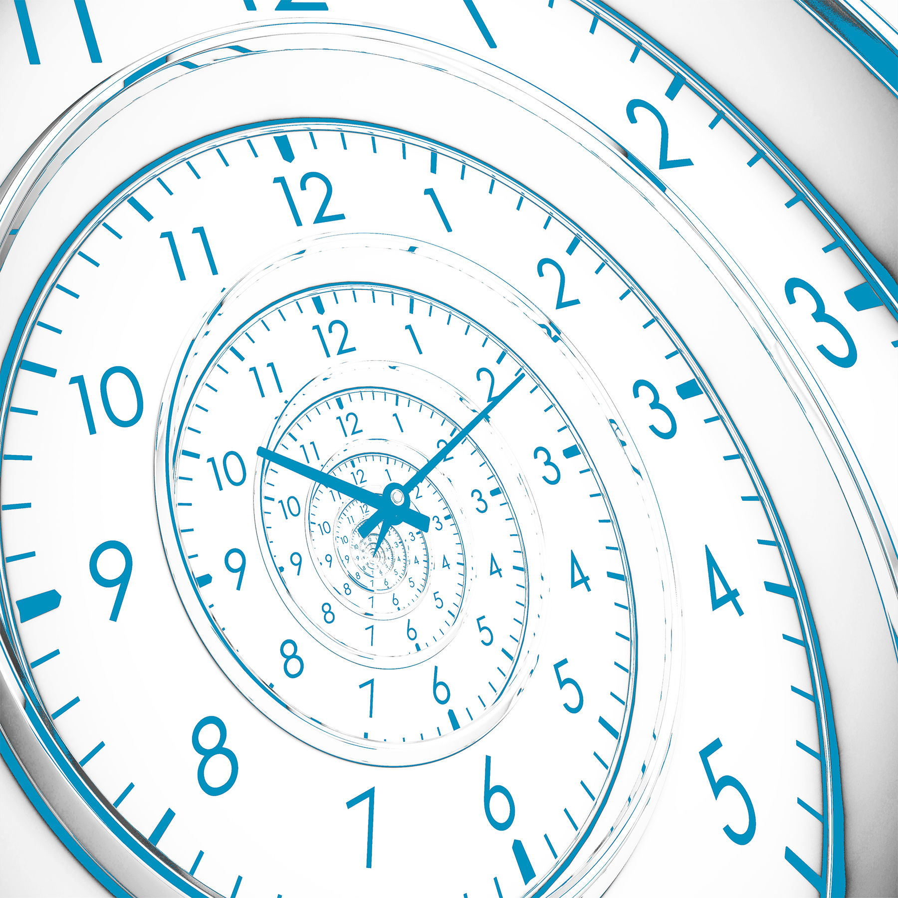Time Spiral Clock Seconds Years